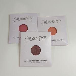 BNIB colourpop single shadow bundle